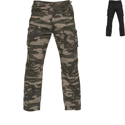 Black Command Made With Kevlar Lined Motorcycle Cargo Jeans Combat Motorbike