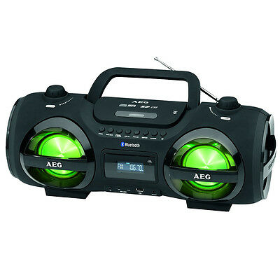 AEG SR4359BT Radioplayer schwarz 2x50Watt Bluetooth AUX USB