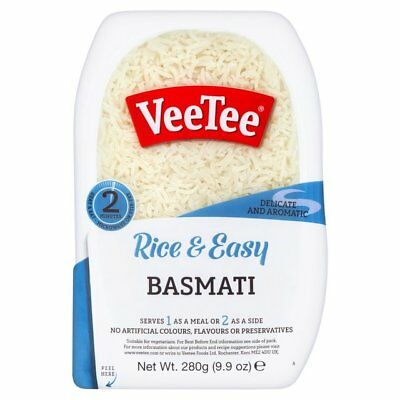 Veetee Dine In Basmati Rice 280g Packs Various Quantities - Perfect with Indian