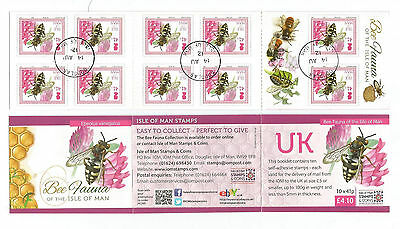 Isle Of Man 2012 £4.10 Bee Fauna Self-Adhesive Booklet Sb78 Fine Used