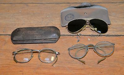 Vintage Ray-ban & A O cases B & L Bausch & Lomb glasses & more steampunk lot