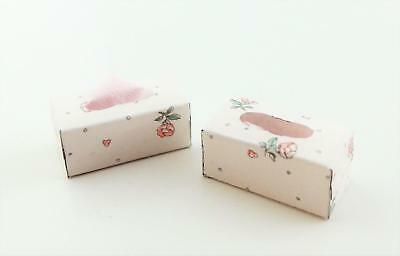 Melody Jane Dolls House Tissue Boxes Miniature Bedroom Bathroom Accessory A