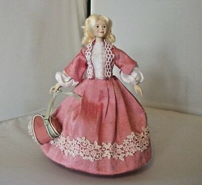 1/12th handmade part porcelain mid victorian young lady from Victoria Hope Dolls