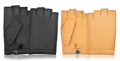 Driving Chauffeur Sheep Leather Classic Vintage Bike Car Cycle Riding Gloves