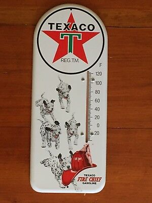 2000 Texaco Advertising Gasoline Fire Chief Thermometer Dalmatians