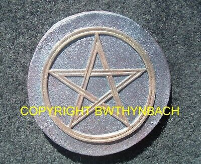 New Rubber Latex Mould Mold Pagan Wiccan Pentangle Pentagram Wall Plaque
