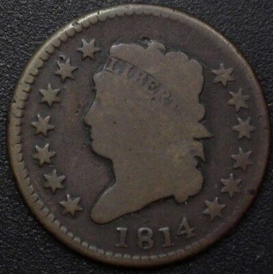 1814 Classic Head Large Cent  Very Good