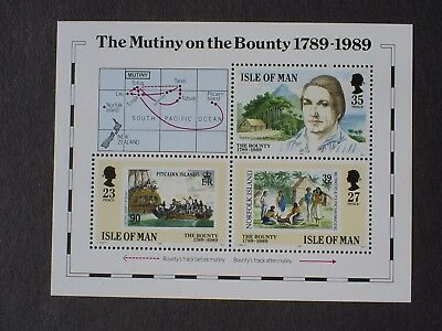 Isle Of Man Stamps Presentation Pack With 1989 Mutiny On The Bounty Mini Sheet.