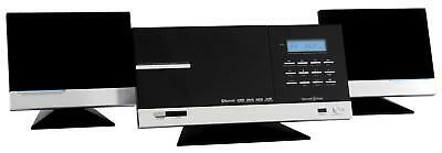 Luxus Vertical Wand Micro Anlage Cd Player Usb Sd Mp3 Bluetooth Ukw Radio Wecker