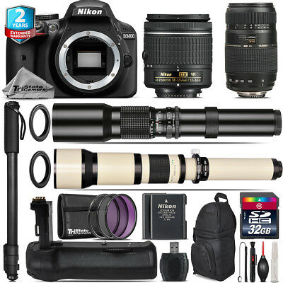 Nikon D3400 DSLR + AF-P 18-55mm VR + Tamron 70-300mm + Battery Grip - 32GB Kit