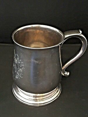 Augustine Courtauld 1735 English Sterling Mug Famous Huguenot Silversmith N/r