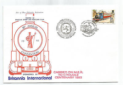 Isle Of Man 1993 Philatelic Federation Carried On Electric Railway Groudle Cover