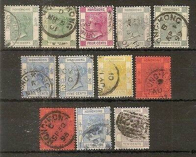 Hong Kong 1863-1880 Used Collection Cat£320