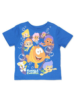 Bubble Guppies Boys Short Sleeve Blue Tee (Toddler) 7NB6365