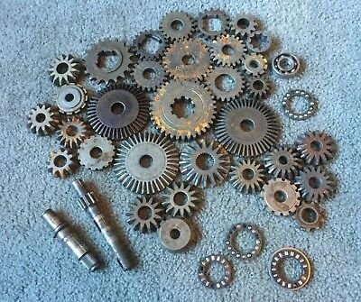 Vintage Industrial Machine Age Steel/Cast Iron Lot 39 Gears /Cogs Steampunk Art