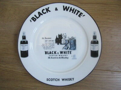 Unusual Black And White Scotch Whisky Plate