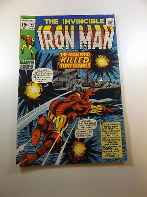 Iron Man #23 VG+ condition Huge auction going on now!