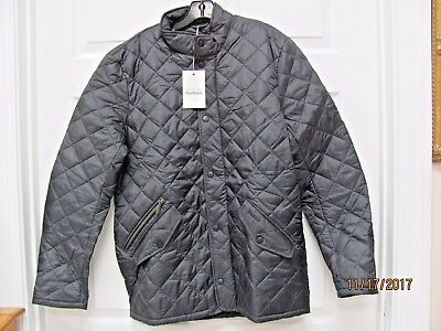 New Barbour Flyweight Chelsea Quilted Jacket Navy Polyester Men's M