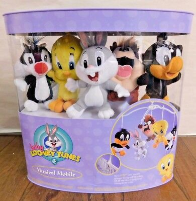 NEW Baby Looney Tunes Baby Crib Mounting Musical Mobile Carosel Warner Brothers