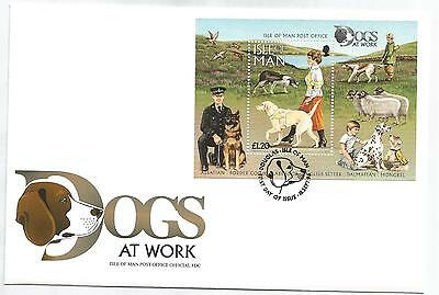ISLE Of MAN 1996 DOGS MINIATURE SHEET on FIRST DAY COVER