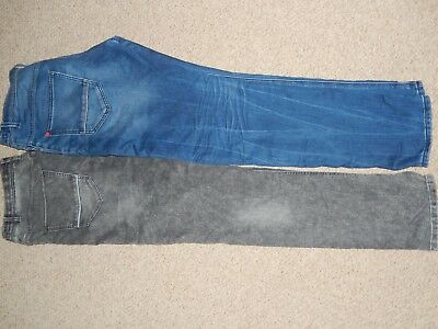 2 Pairs Next Boys Stretchy Skinny Jeans Blue and Black Age 15 Years