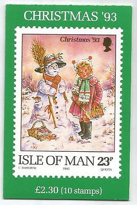 Isle Of Man 1993 £2.30 Christmas Booklet Sb36