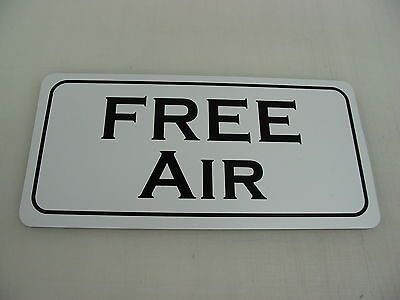 FREE AIR METAL SIGN 6x12