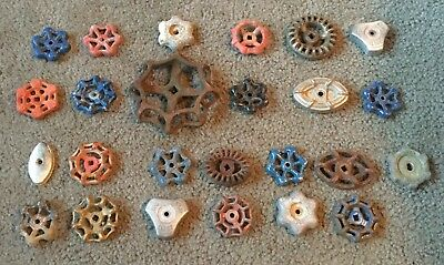 25 Vintage Antique Water Faucet Knob/valve Handles Steampunk Industrial Art