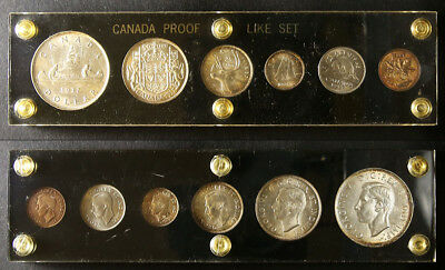 1937 Canada Silver Uncirculated Set 6 Coin in Capital Holder MS