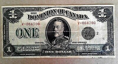 1923 $1 One Dollar Dominion Of Canada