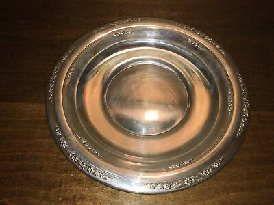 "STERLING SILVER 10"" Plate, Courtship International  - 212 grams"