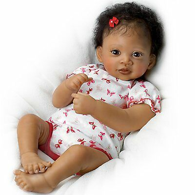 "Interactive Baby Doll By Waltraud Hanl: Sweet Butterfly Kisses 19""  Ashton Drake"