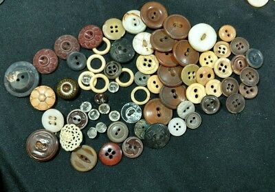 Antique Vintage mixed lot of buttons