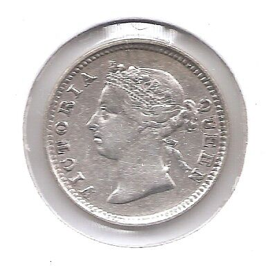 British Honduras Silver 1894 5 Cents (KM7) Only 128,000 Minted