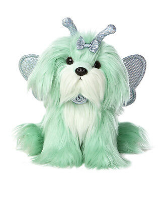 New AURORA MIYONI Stuffed Plush Toy SHIH TZU Fairy Puppy Dog WING Neon Green