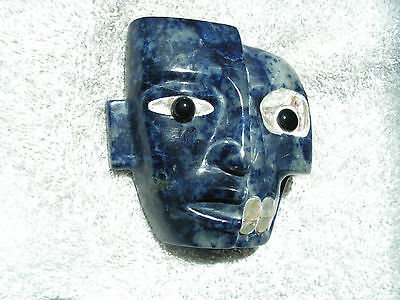 Duality Mask  Sodalite Stone  New. Life & Death Together.