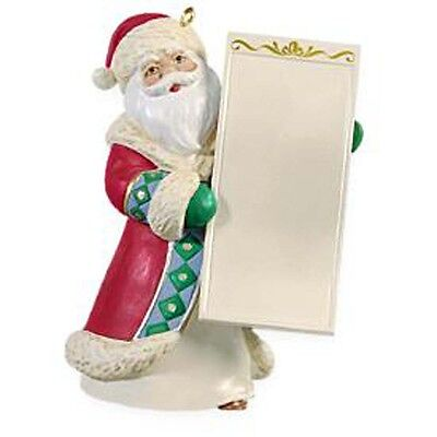 2009 SANTA'S LIST Santa Claus Hallmark Ornament PERSONALIZE LIST