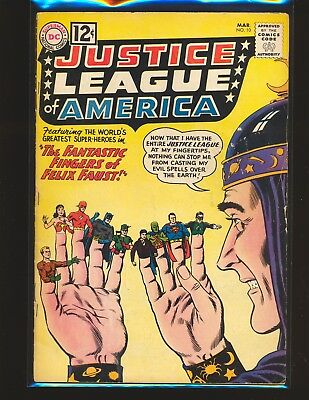 Justice League of America # 10 - 1st Felix Faust Fair Cond. 3 staples added