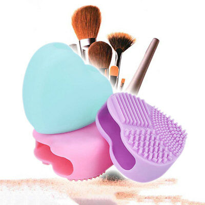 Portable Silicone Heart-Shaped Makeup Brush Glove Beauty Hand Washing Cleaner AU