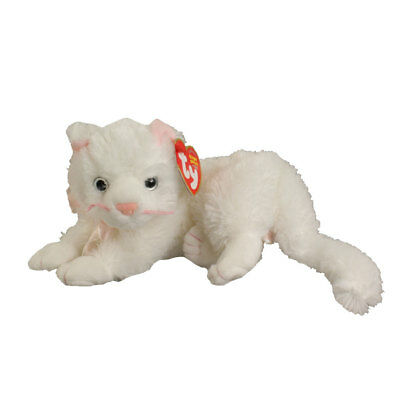 TY Beanie Baby - BIANCA the White Cat (8 inch) - MWMTs Stuffed Animal Toy