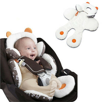 H Newborn Baby Car Seat Stroller Cushion Pad Liner Mat Head Body Support Pillow