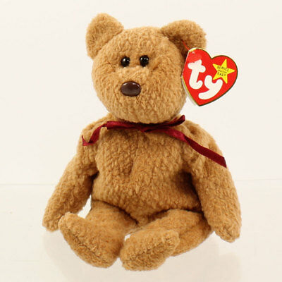 TY Beanie Baby - CURLY the BEAR (5th Gen *Origiinal* Spelling Error) MWMT's
