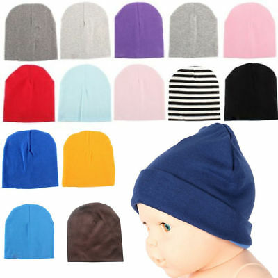 Newborn Baby Unisex Toddler Infant Boys Girls Beanie Hat Soft Cute Cap Cotton @