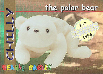 a9665876fcd TY Beanie Babies BBOC Card - Series 1 Retired (GOLD) - CHILLY the Polar