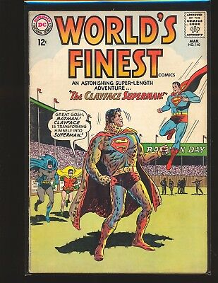 World's Finest Comics # 140 Good+ Cond. subscription crease water damage
