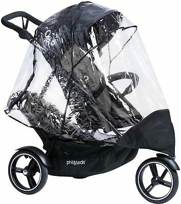 Phil & Teds DOT STORM COVER SINGLE & DOUBLE Baby Travel BN
