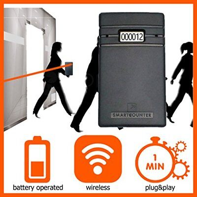 Display people visitor counter, wireless, non directional. Door traffic counter