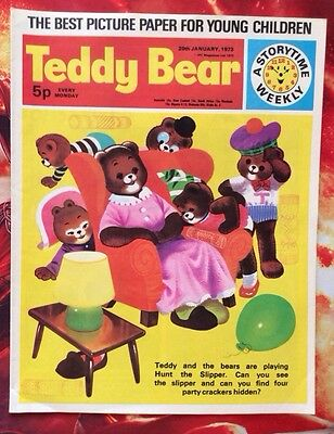 RARE TEDDY BEAR COMIC.  20 JANUARY 1973. NR Mint. Puzzles Not Done.