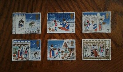 Complete used GB stamp set - 1973 Christmas (Good King Wenceslas)