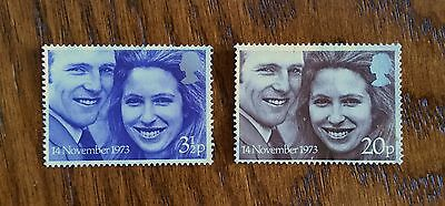 Complete GB used stamp set - 1973 Royal Wedding